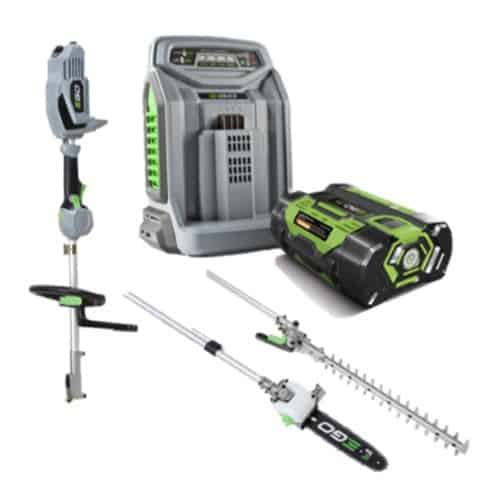EGO multi tool set with hedge trimmer & pole saw